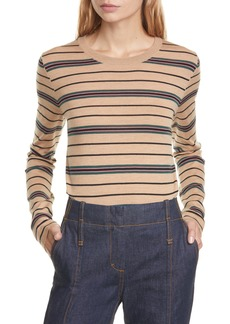 Tory Burch Madeline StripeMerino Wool Sweater