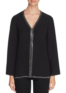 Tory Burch Mallet Embellished Silk Tunic