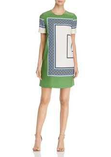 Tory Burch Mallory Silk Color-Block Dress