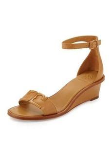 Tory Burch Marcia Leather Demi-Wedge Sandal