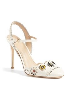 Tory Burch Marguerite Embellished Slingback Pump (Women)