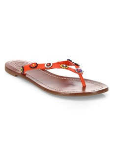 Tory Burch Marguerite Terra Leather Thong Sandals