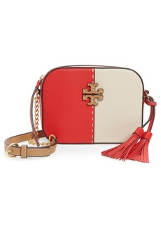 Tory Burch McGraw Colorblock Leather Camera Bag