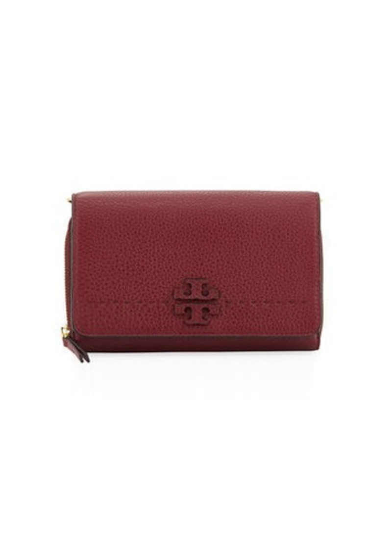 9a7566a83547b7 Tory Burch Tory Burch McGraw Flat Crossbody Wallet Bag