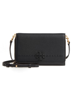 Tory Burch McGraw Leather Crossbody Wallet
