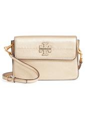 Tory Burch McGraw Metallic Leather Shoulder Bag