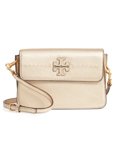 Tory Burch McGraw Metallic Leather Shoulder Bag