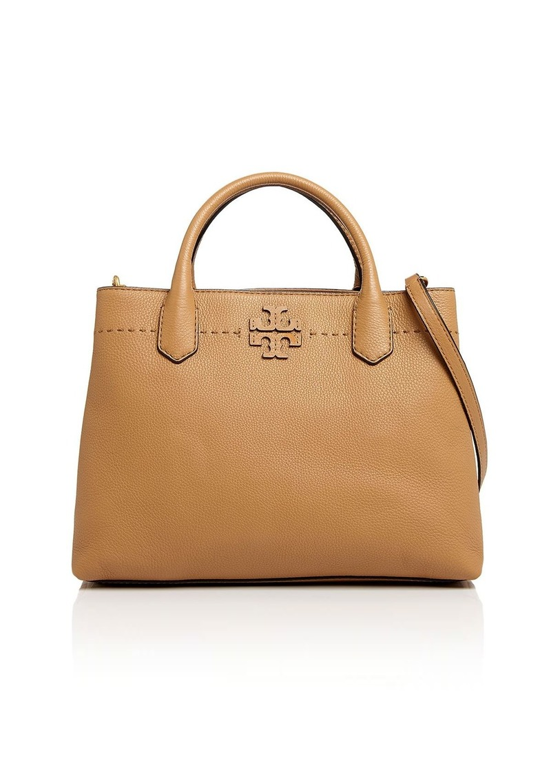 ae401b363df Tory Burch Tory Burch McGraw Triple Compartment Leather Satchel ...