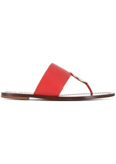 Tory Burch medallion detail sandals - Red