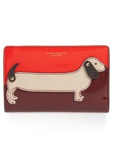 Tory Burch Medium McGraw Dachshund Slim Leather Wallet