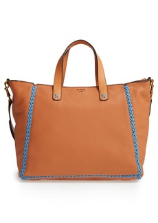 Tory Burch Medium Whipstitch Leather Tote
