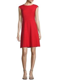 Tory Burch Megan Wool-Blend A-Line Dress