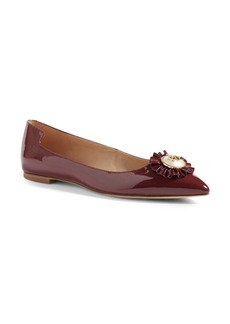 Tory Burch Melody Pointy Toe Flat (Women)