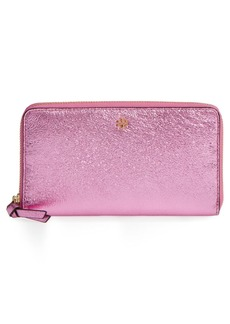 Tory Burch Metallic Leather Continental Wallet