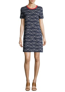 Tory Burch Michaela Short-Sleeve Printed T-Shirt Dress