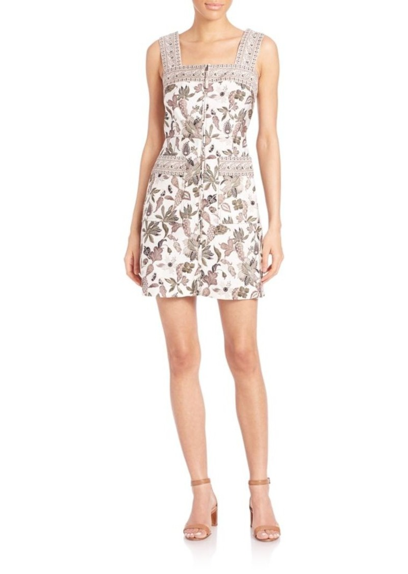 Tory Burch Mikado Zip-Front Dress