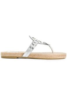 Tory Burch Miller espadrille sandals - Metallic