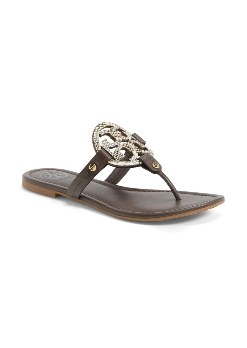 tory burch tory burch 39 miller 39 leather thong sandal women. Black Bedroom Furniture Sets. Home Design Ideas