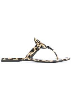 Tory Burch Miller leopard print sandals - Nude & Neutrals