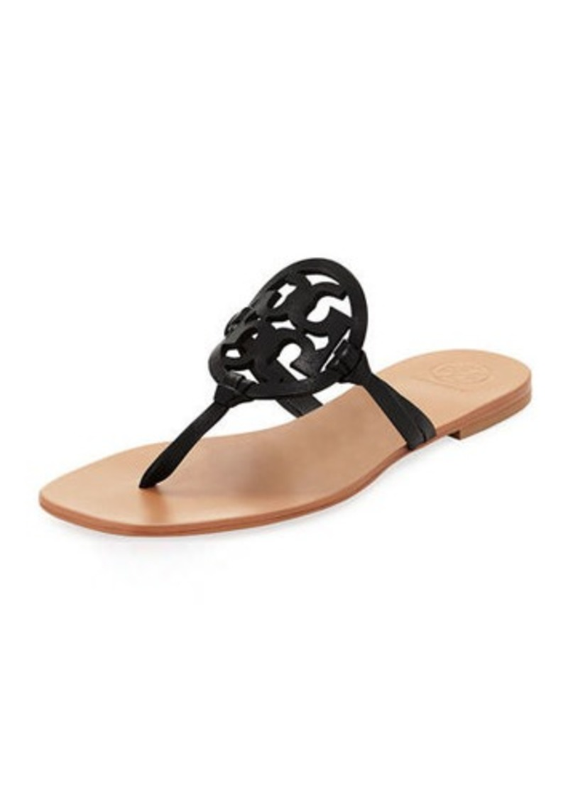 6c0730a95 Tory Burch Miller Square-Toe Flat Leather Thong Sandal