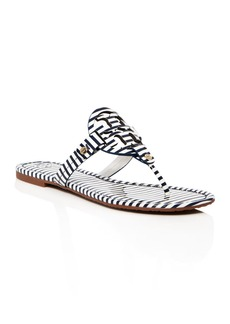 Tory Burch Miller Striped Thong Sandals