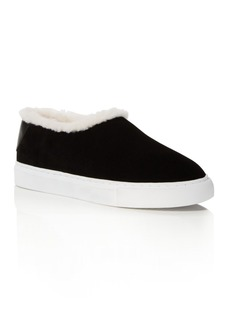 Tory Burch Miller Suede and Shearling Slip-On Sneakers