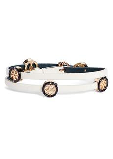 Tory Burch Miller Wrap Leather Bracelet