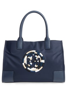 Tory Burch Mini Ella Embroidered Logo Nylon Tote