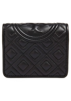 Tory Burch Mini Fleming Quilted Lambskin Leather Bifold Wallet