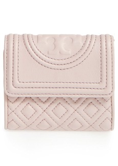 Tory Burch 'Mini Fleming' Quilted Lambskin Leather Wallet
