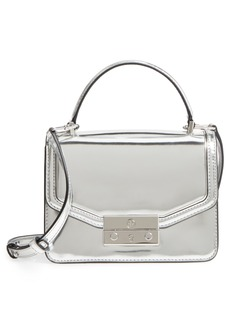 Tory Burch Mini Juliette Metallic Leather Top Handle Satchel