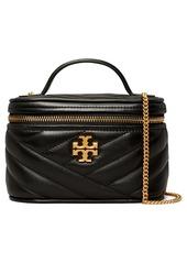 Tory Burch Mini Kira Chevron Quilted Leather Vanity Case Crossbody Bag