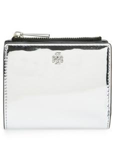 Tory Burch Mini Robinson Mirror Leather Wallet