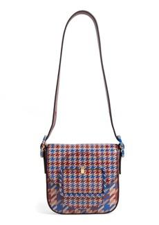 Tory Burch Mini Sawyer Houndstooth Leather Shoulder Bag