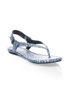 Tory Burch Minnie Leopard-Print Travel Sandals