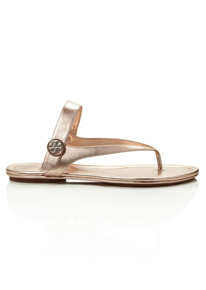 fe7599301fdd Tory Burch Tory Burch Minnie Metallic Thong Sandals