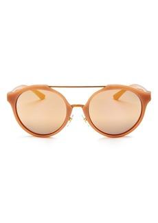 Tory Burch Mirrored Round Sunglasses, 52mm