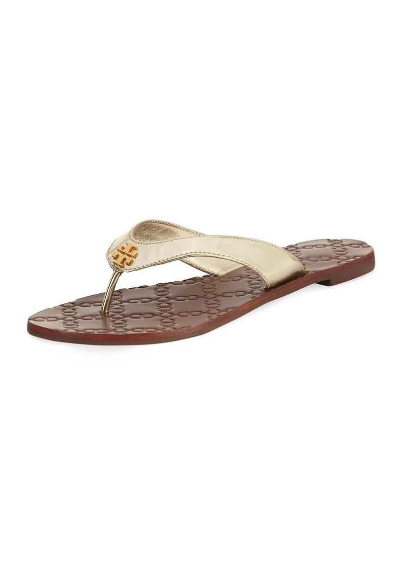 8eccad09dd20 Tory Burch Tory Burch Monroe Metallic Flat Thong Sandal
