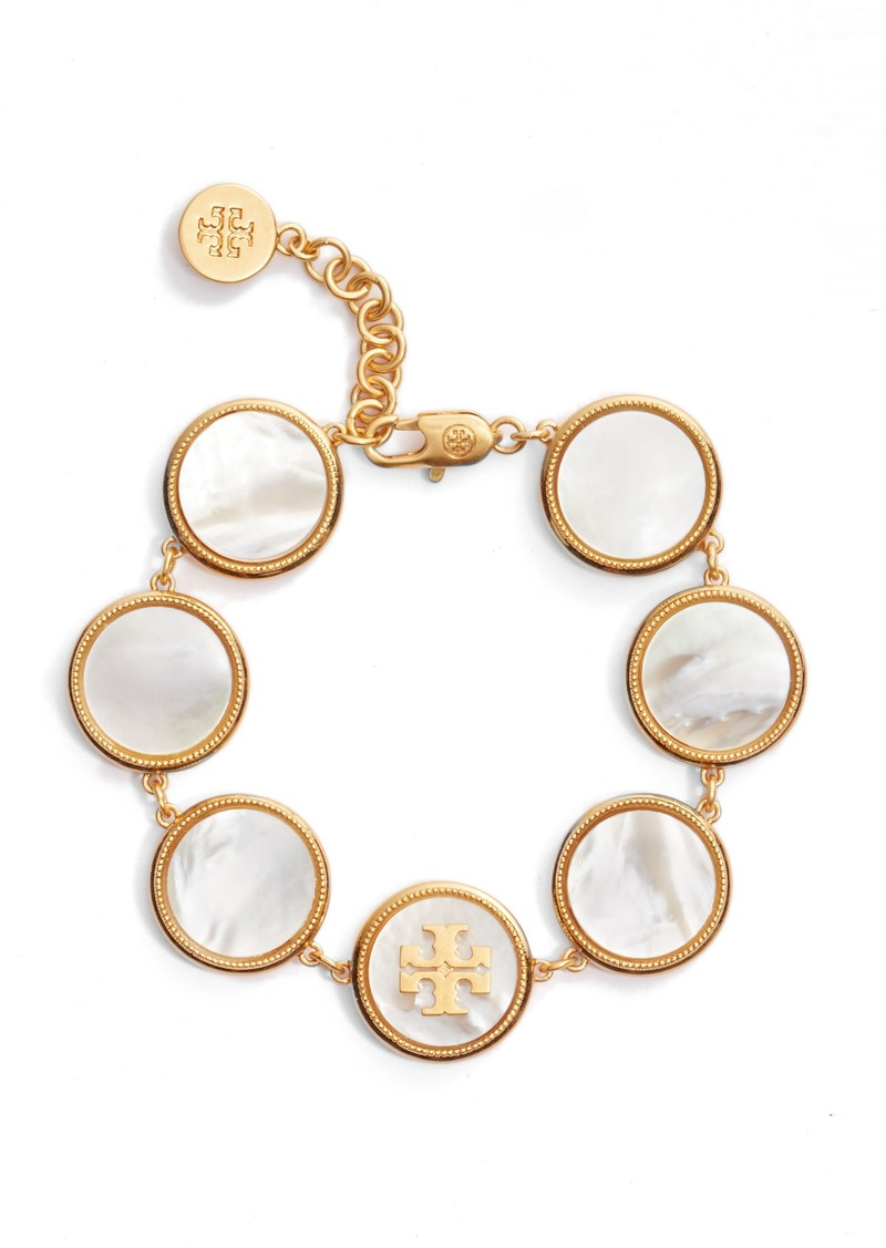 4b5ef1f8c25e7c Tory Burch Tory Burch Mother-of-Pearl Station Bracelet | Jewelry