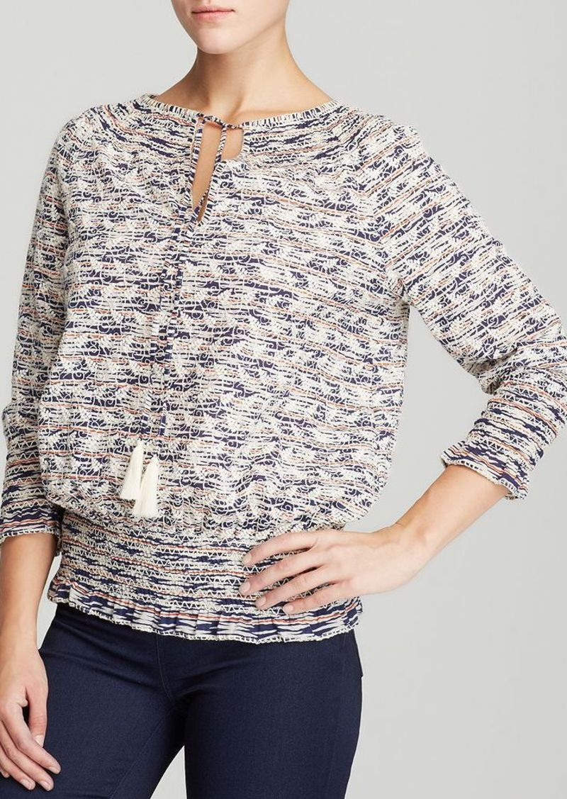 Tory Burch Tory Burch Nadia Embroidered Peasant Top