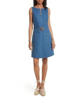 Tory Burch Nadia Linen A-Line Dress