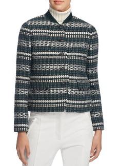 Tory Burch Norfolk Stripe Tweed Jacket