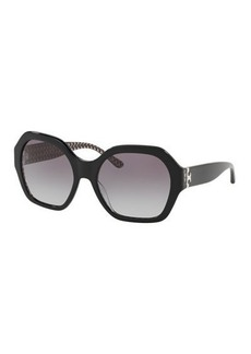 Tory Burch Octagon Gradient Acetate Sunglasses
