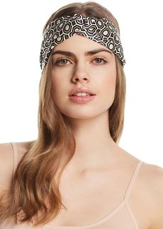 Tory Burch Octagon Print Silk Headband