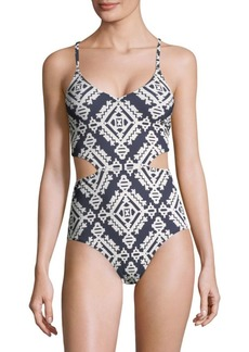 Tory Burch One-Piece Cutout Swimsuit