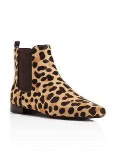 Tory Burch Orsay Leopard Print Calf Hair Chelsea Booties