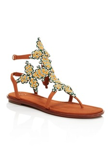 Tory Burch Palisade Woven T Strap Sandals