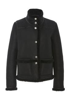Tory Burch Paneled Reversible Shearling Jacket