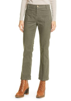 Tory Burch Patch Pocket Corduroy Pants