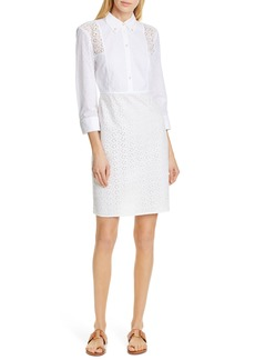 Tory Burch Patchwork Eyelet Dress